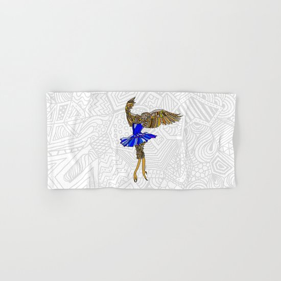 Owl Ballerina Tutu Hand & Bath Towel
