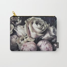 Roses peonies vintage style old masters flowers blooms Carry-All Pouch