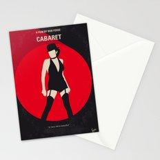No742 My Cabaret minimal movie poster Stationery Cards