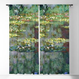 Claude Monet Pond of Water Lilies Blackout Curtain