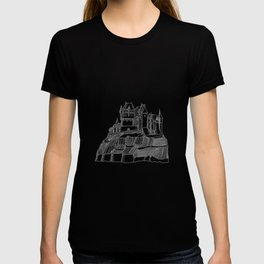 Castle on the Cliff . Illustration T-shirt