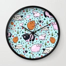 Cute Pigs Wall Clock
