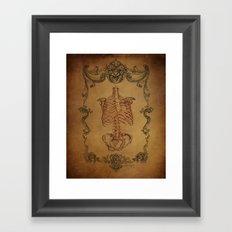 Scrolls & Bones Framed Art Print