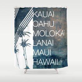 Hawaiian Islands Shower Curtain