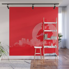 Jack The Ripper Red Background Wall Mural