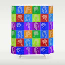 60s hairstyles Shower Curtain