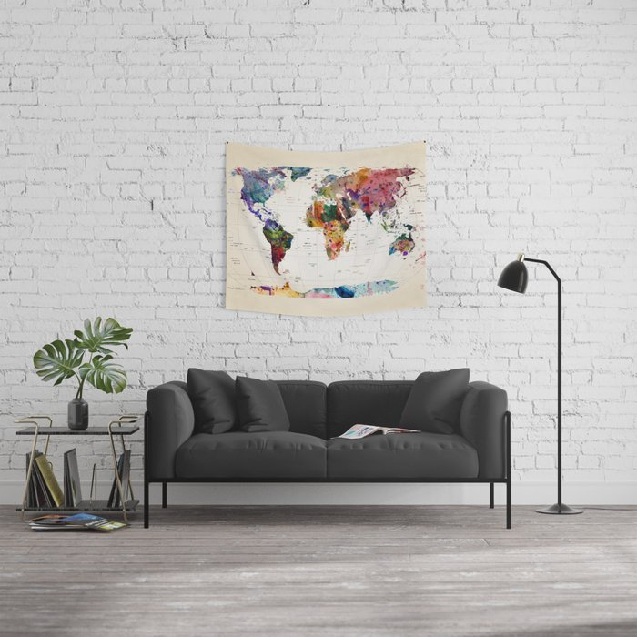 map Wall Tapestry