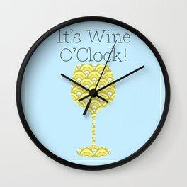 It's Wine O'Clock Modern wine-lover's art Wall Clock