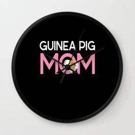 Guinea Pig Mom Rodent Guinea Pig Wall Clock