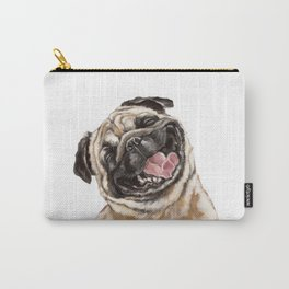 Happy Laughing Pug Carry-All Pouch