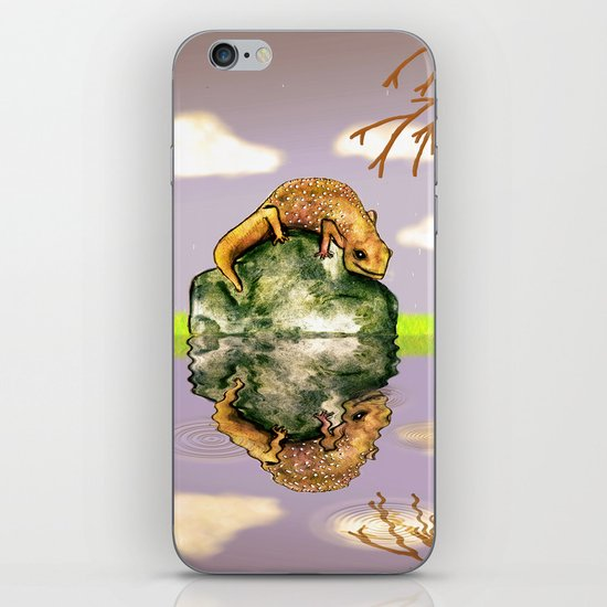 Reflect upon yourself on a rainy day  iPhone & iPod Skin