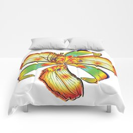 Rockin Tiger Lily Flower Psychedelic Abstract Comforters