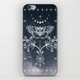 Magical Moth White iPhone Skin
