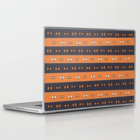 haikyuu Laptop & iPad Skins featuring Haikyuu!! Karasuno Bows by InkyThoughts