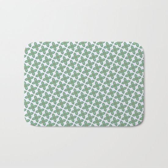 Mint Leaf Pattern Bath Mat