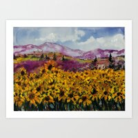 Sunflowers in Provence Art Print