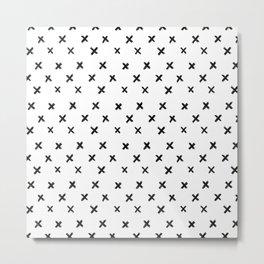 Small Cross Pattern Metal Print