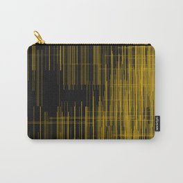 Golden lines over black background Carry-All Pouch