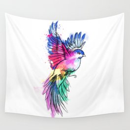 Bird of Colour Wall Tapestry