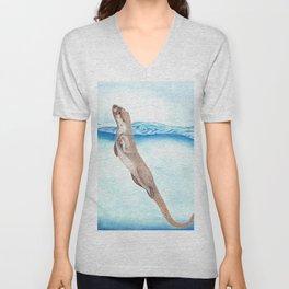 Sea Otter Unisex V-Neck