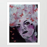 marie antoinette Art Prints featuring Antoinette by Clare Chapman
