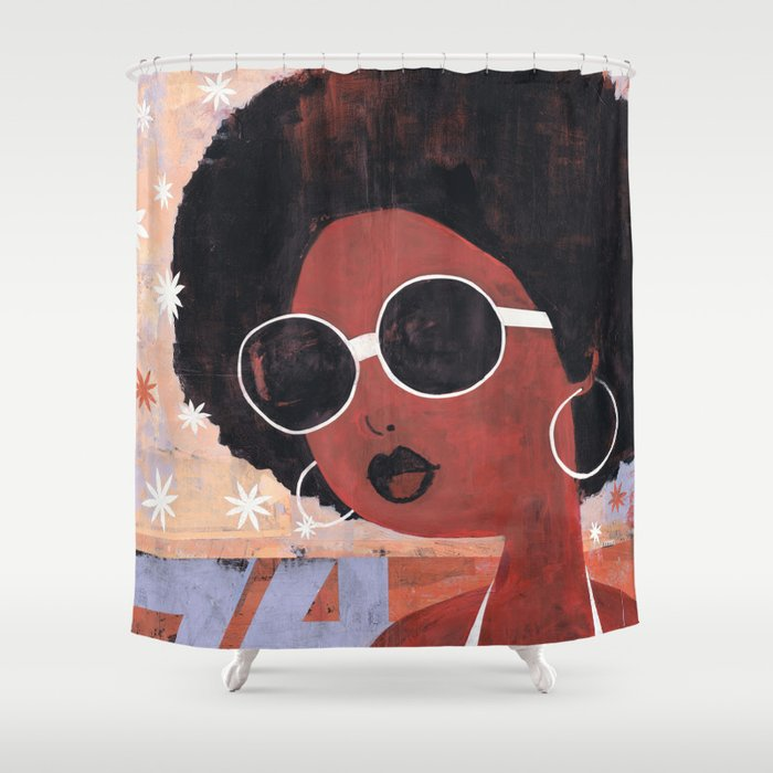 Afro 74 Shower Curtain