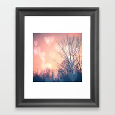 Love is in the Air Framed Art Print