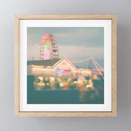 Ferris Wheel photo. Santa Monica.  Let's Be Kids Again Framed Mini Art Print