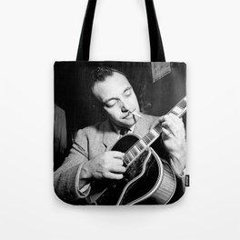 Django Reinhardt at the Aquarium Jazz Club Tote Bag