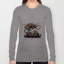 rat fight Long Sleeve T-shirt