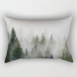 Forest in the fog Rectangular Pillow