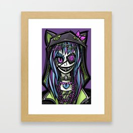Scary Harajuku Girl Framed Art Print