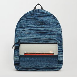 Cargo Ship Seascape Backpack