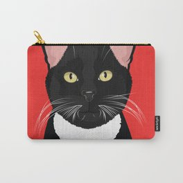 Tuxedo Cat Art Poster by Artist A.Ramos. Designed in Bold Colors. Perfect for Pet Lovers Carry-All Pouch