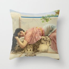 Lady In Pink Throw Pillow