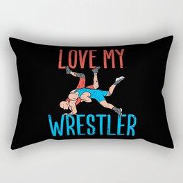 Please Do Not Feed The Wrestler Rectangular Pillow