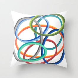 Circle circle Throw Pillow