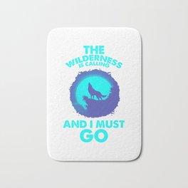The Wilderness Is Calling Adventure Wolf bt Bath Mat