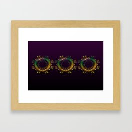 Fantasy Circle Pillow (purple) Framed Art Print
