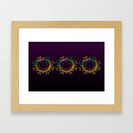 Fantasy Circle Pillow (purple) Framed Art Print