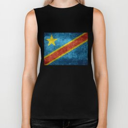 National flag of the Democratic Republic of the Congo, Vintage version (to scale) Biker Tank