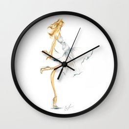 Gray|Tulle Wall Clock