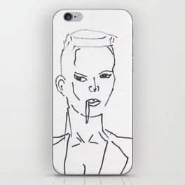 Grace Jones Smoking iPhone Skin