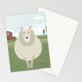 Sheep in a meadow Stationery Cards