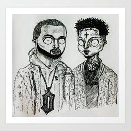 Drake&21S Art Print