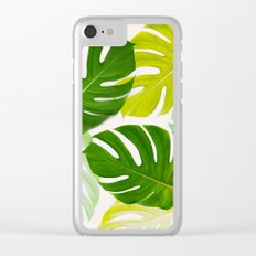 Colorful Monstera Clear iPhone Case