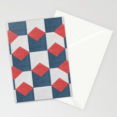 WOVEN GEOMETRIC PATTERN Stationery Cards