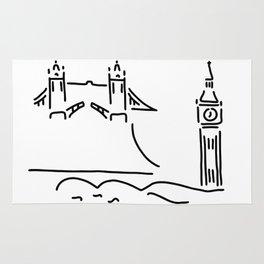 London tower bridge big ben Rug