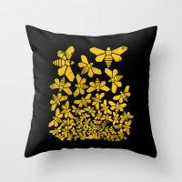 escher Throw Pillows featuring Breaking Escher by swissette