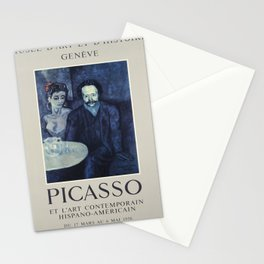 old placard picasso musee dart et dhistoire Stationery Cards